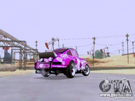 Porsche 911 Pink Power for GTA San Andreas back view