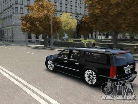 Cadillac Escalade ESV 2012 DUB for GTA 4 side view