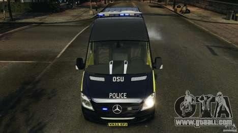 Mercedes-Benz Sprinter Police [ELS] for GTA 4 interior