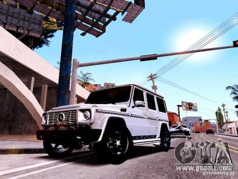 Mercedes-Benz G65 2012 for GTA San Andreas back view