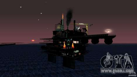 Oil platform in Los Santos for GTA San Andreas fifth screenshot