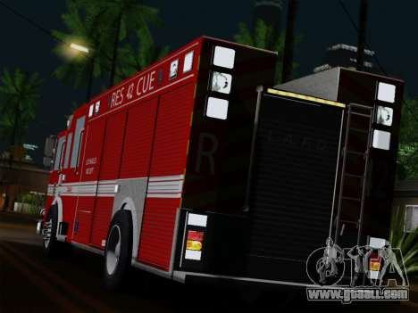 Pierce Contender LAFD Rescue 42 for GTA San Andreas back left view