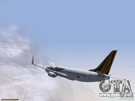 Boeing 737-800 Tiger Airways for GTA San Andreas side view