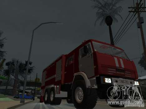 KAMAZ 43118 AC-7 for GTA San Andreas back view
