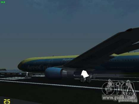 Boeing 767-300 AeroSvit Ukrainian Airlines for GTA San Andreas side view
