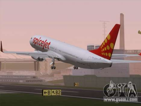 Boeing 737-8F2 Spicejet for GTA San Andreas engine