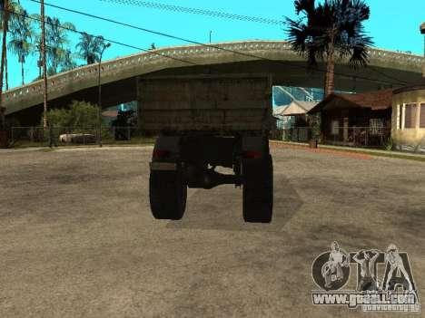 KAZ 4540 dump truck for GTA San Andreas back left view