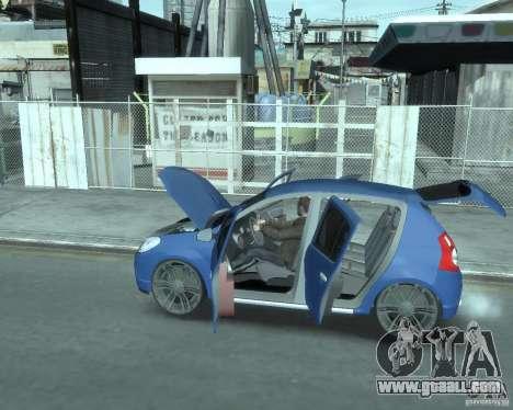Renault Sandero v1.0 for GTA 4 inner view