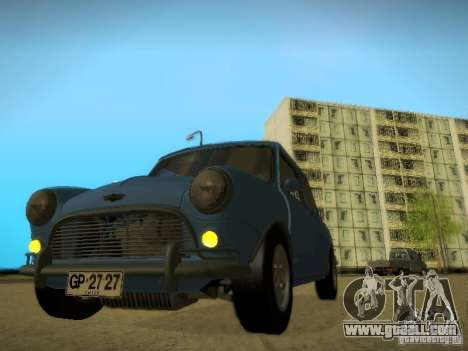 Mini Cooper 1965 for GTA San Andreas back left view