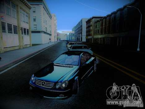 Mercedes-Benz CLK 55 AMG Coupe for GTA San Andreas upper view