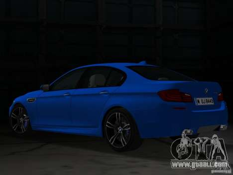 BMW M5 F10 2012 for GTA Vice City back left view