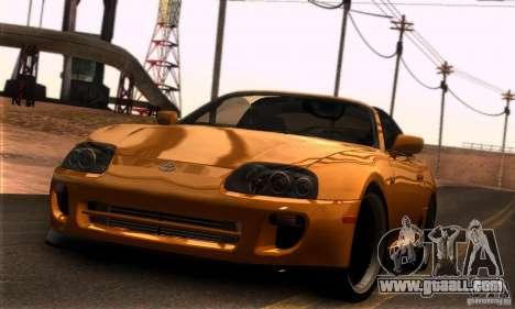 Toyota Supra Targa for GTA San Andreas left view