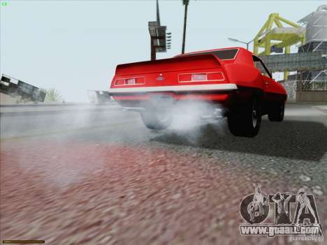 Chevrolet Camaro 1969 for GTA San Andreas engine