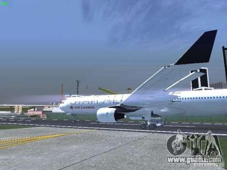 Airbus A330-300 Air Canada for GTA San Andreas back view