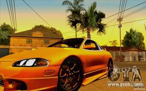 Mitsubishi Eclipse GSX Mk.II 1999 for GTA San Andreas back view