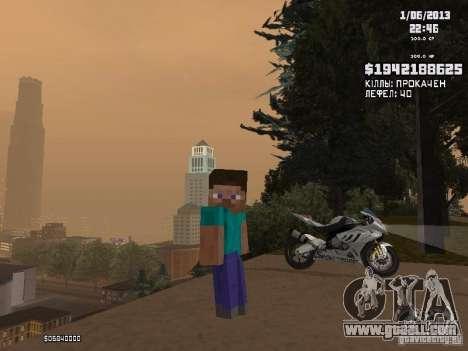 Steve for GTA San Andreas