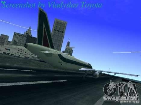 Airbus A320-214 Alitalia v.1.0 for GTA San Andreas right view