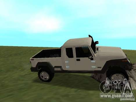 Jeep Gladiator for GTA San Andreas inner view
