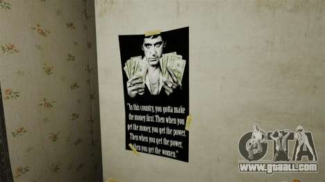 New posters in the second apartment for GTA 4 forth screenshot