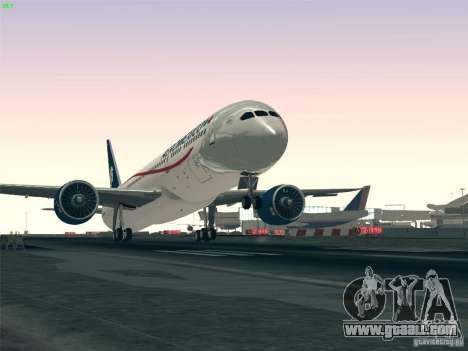 Boeing 787-8 Dreamliner AeroMexico for GTA San Andreas interior