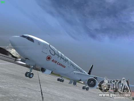 Airbus A330-300 Air Canada for GTA San Andreas left view