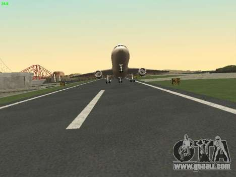McDonell Douglas DC-10-30 Continental for GTA San Andreas back left view
