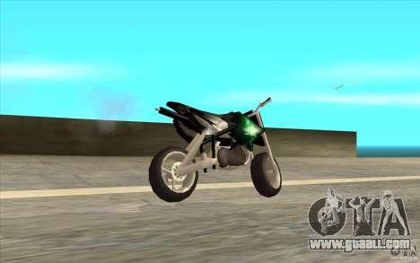 Black Rockstar Moto Cross for GTA San Andreas left view