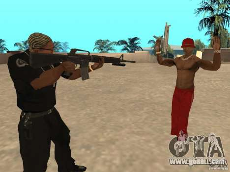 M4A1 from Left 4 Dead 2 for GTA San Andreas second screenshot