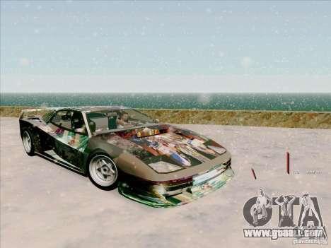 Ferrari Testarossa Custom for GTA San Andreas inner view