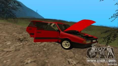 Audi 80 B3 v2.0 for GTA San Andreas inner view