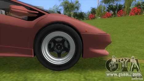 Lamborghini Diablo VTTT Black Revel for GTA Vice City right view