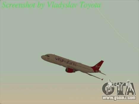 Airbus A320-211 Virgin Atlantic for GTA San Andreas side view