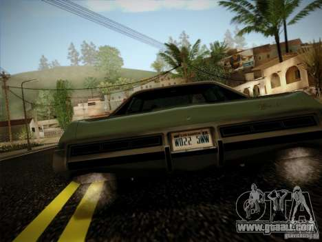 Chevrolet Impala 1972 for GTA San Andreas right view