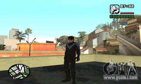 Nightwing skin for GTA San Andreas forth screenshot