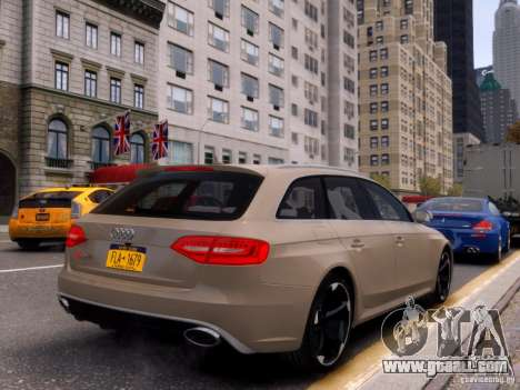 Audi RS4 Avant 2013 for GTA 4 back view