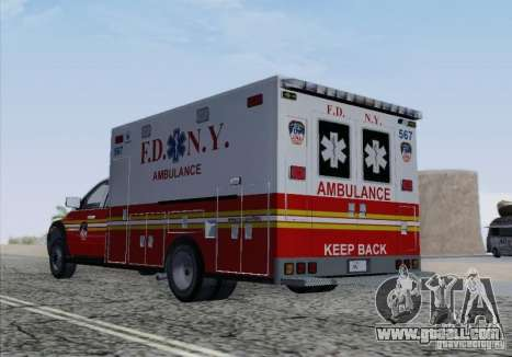 Dodge Ram Ambulance for GTA San Andreas upper view