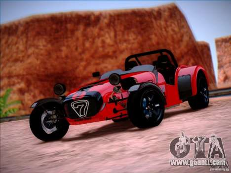 Caterham Superlight R500 for GTA San Andreas right view