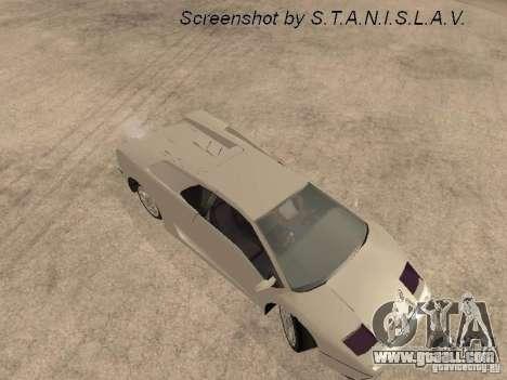 Lamborghini Diablo for GTA San Andreas back view