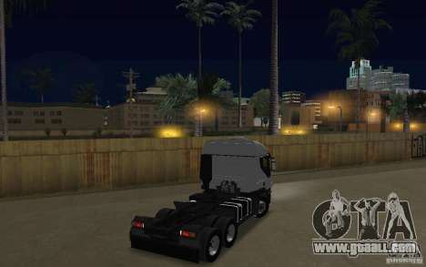 Iveco Stralis Double Trailers for GTA San Andreas right view