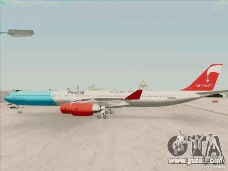 Airbus A-340-600 Plummet for GTA San Andreas left view