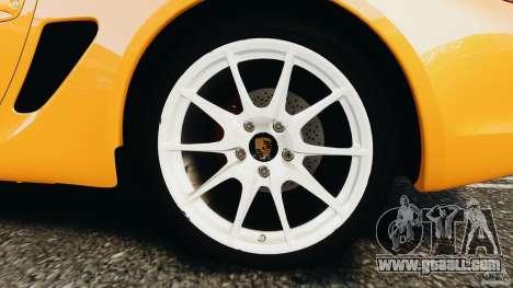Porsche Cayman R 2012 [RIV] for GTA 4 side view