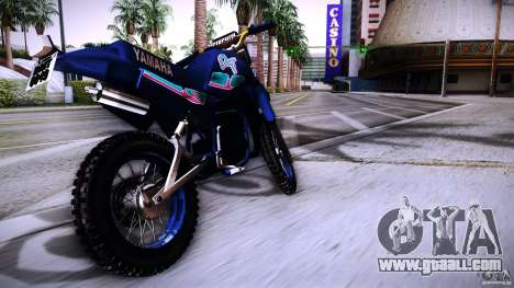 Yamaha DT 180 for GTA San Andreas back left view