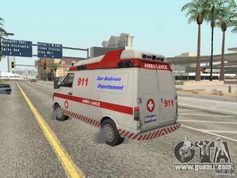 Ford Transit Ambulance for GTA San Andreas back left view