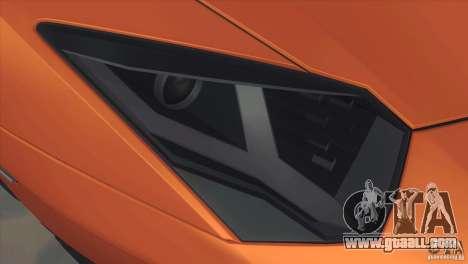 Lamborghini Aventador LP 700-4 for GTA San Andreas inner view