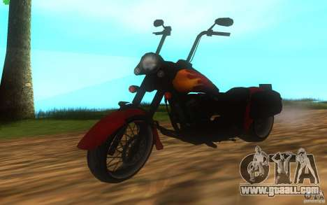 Motorcycle from Mercenaries 2 for GTA San Andreas back left view