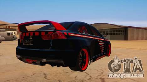 Mitsubishi Lancer Evolution X Pro Street for GTA San Andreas right view