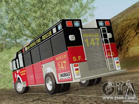 Pierce SFFD Rescue for GTA San Andreas upper view