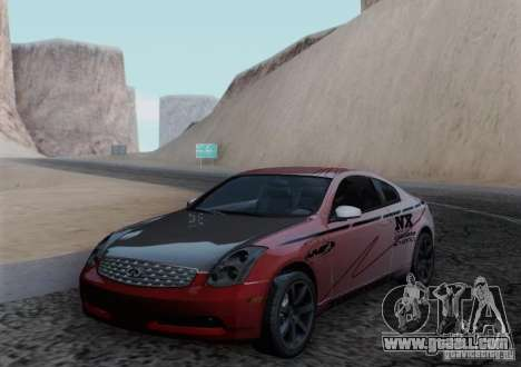Infiniti G35 for GTA San Andreas engine