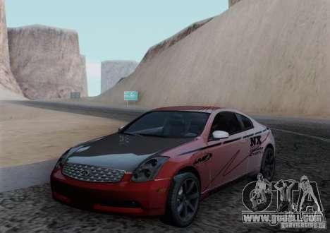 Infiniti G35 for GTA San Andreas engine