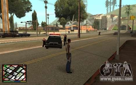 GTA V Interface for GTA San Andreas second screenshot